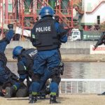 兵庫県警が港湾関係機関とテロ対策訓練