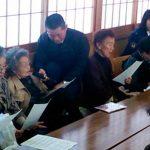 三重県いなべ署で防犯・交通安全ソング「こころの扉」を披露