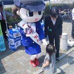 福岡県田川署が「パンの博覧会」で広報活動