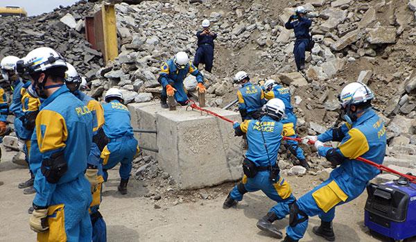 千葉・埼玉県警が合同で災害訓練を実施