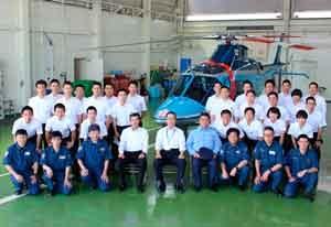 佐賀県警の三田本部長が航空隊を督励