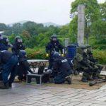 京都府宇治署と城陽署でテロ対策ネットワークの総会と訓練