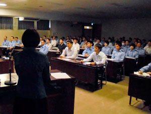 広島県安佐南署で交通事故被害者遺族の講演会