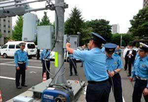 宮城県警が交通信号機への電源供給訓練を実施