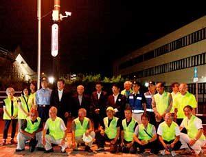 福岡県飯塚署の働き掛けで地域にLEDライト増設と防犯カメラの設置