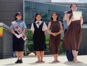 愛知県中村署はJKビジネスの危険性を訴える広報啓発キャンペーンを実施