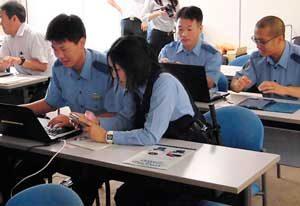 滋賀県米原署でサイバーセキュリティコンテスト開く