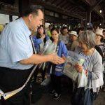 愛知県東海署が芝田山親方招いて交通事故抑止キャンペーン