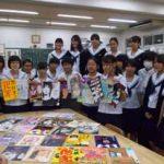 愛知県安城署で高校美術部デザインの防犯ポスター制作