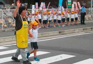 愛知県警が横断歩道の日に歩行者保護を呼び掛け