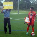 三重県四日市南署はサッカーと交通安全コラボの特別イベント