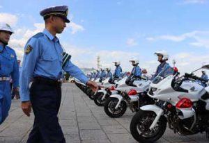 神奈川県警で秋の全国交通安全運動の出発式