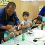 愛知県中村署で署員家族を招いての「職場見学会」