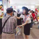 愛知県西枇杷島署では歩行者保護のキャンペーン