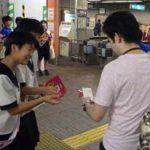愛知県千種署が女子バレー部員と「交通事故ブロック」キャンペーン