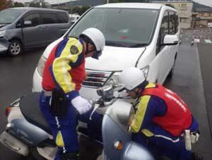 京都府警で交通鑑識技能競技会を開催