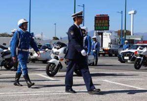 神奈川県警で高速道路の交通安全運動出陣式