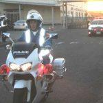 和歌山県警の特別交通機動隊が取締りの出陣式