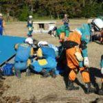 関東管区局と神奈川県警で広域緊急援助隊の合同訓練