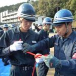 滋賀県警機動隊が警察学校と災害救助訓練を実施