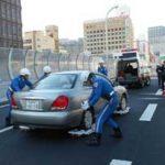 大阪府警が阪神高速で道路啓開・緊急交通路確保の訓練