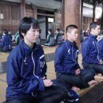 京都府警察学校の初任科生が座禅を体験