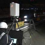 愛知県警が夜間に可搬式オービスで速度取締り