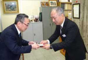 岡山県警幹部の名刺に特殊詐欺撲滅の標語
