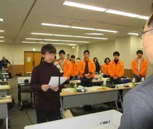 岡山県学生防犯ボランティア連絡会の発足式に県警が参加
