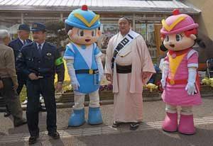 佐田の海関が大阪府豊能署の一日警察署長に