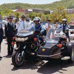 大阪府豊能署が兵庫・京都と合同の交通安全キャンペーン