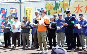 北海道せたな署で特殊詐欺被害STOPソング合唱の啓発活動