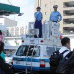 福岡県南署のDJ女性ポリスが自転車の安全利用を呼び掛け