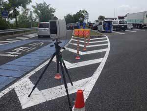 和歌山県警がサービスエリアで可搬式ナンバーの読取装置の取締活動