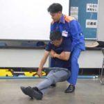 岐阜県大垣署でガソリン特性・負傷者搬送方法の教養を実施