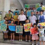 神奈川県警で小学生のアート作品飾るワークショップ