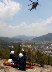 岡山県備前署が和気アルプスで山岳救助訓練
