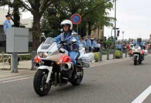 神奈川県警で秋の全国交通安全運動出発式