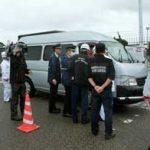富山県警が国際港湾で関係機関と合同検問