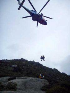 鹿児島県屋久島署で山岳遭難救助訓練を実施