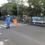 埼玉県警の各署が歩行者優先対策の強化日に一斉街頭活動