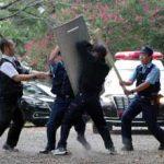 岐阜県大垣署が神社でのテロ想定した対応訓練