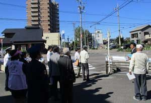 愛知県江南署に危険な通学路の環境改善を実施