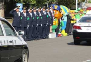 岐阜県岐阜北署で年末年始の特別警戒出発式