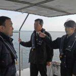 佐賀県警の杉内本部長が有明海を視察