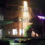 広島県呉署でイルミネーション点灯式