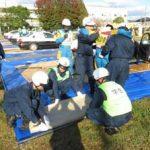 高知県警で若手二機隊員など対象の実戦的災害警備訓練
