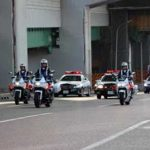 愛知県昭和署で7署合同の交通安全出発式