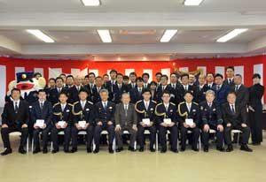 宮城県仙台東署で成人迎えた署員の祝う会開催