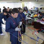 宮城県警でザイルワーク等の基礎教養訓練